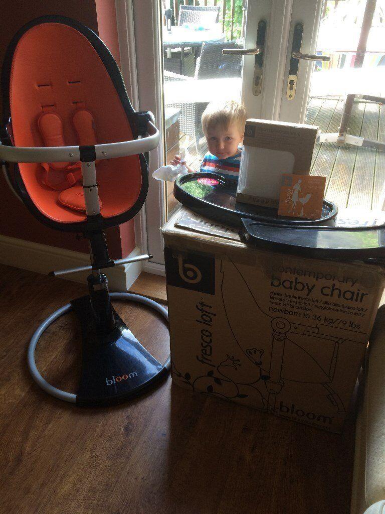 Baby Bloom Fresco Highchair Full Height Version Reach Breakfast Bar Good Condition