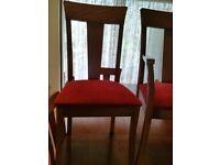 Wooden mahogany table 8 seats
