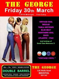 FRIDAY 30th MARCH - 60s 70s SOUL / REGGAE / MOTOWN with DOUBLE BARREL – TOTTERDOWN