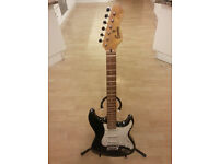 Encore black electric guitar