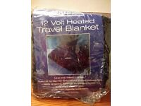 Heated travel blanket