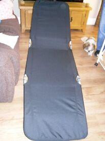 FOLD DOWN FLAT SUN LOUNGER/CAMP BED
