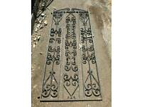 Very large cast iron garden gate