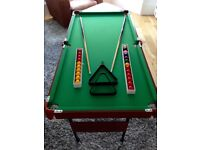Snooker and Pool Table 4 1/2ft x 2 1/4ft.