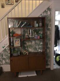 Retro teak 60/70s display cabinet