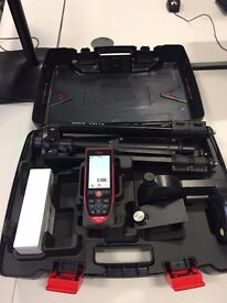 Leica Disto D810 Laser Distance Meter used twice, unbuilt camera, bluetooth, with tripod and case