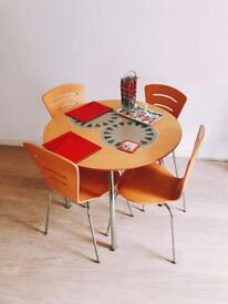 Contemporary Round Table with 4 chairs~Good conditionDining Table set~