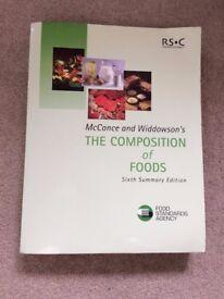 McCance & Widdowson The Compositon of Food Book 6th Edition