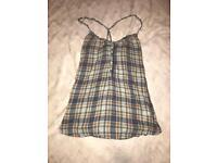 Checkered Strappy Vest Top