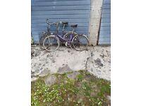 2 Peugeot folding bikes