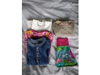 Girls skirt, 3 dresses and jumper