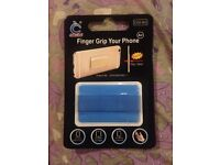 Elastic Finger Grip, ULTRA-THIN SERIES, Mobile Phone, iPhone and iPad Tablet Kindle Holder in Blue