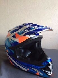 Junior motor bike helmet
