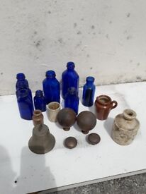 bottles and brass