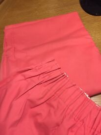 pink curtains, 66 x 90 drop, excellent condition ***