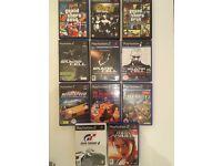 11 x PS2 Games - Grand Theft Auto - Tomb Raider - Gran Turismo - Call of Duty & More