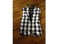 Baby K check summer suit 3-6 months