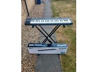 Alesis Q49 MIDI keyboard + adjustable stand