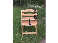 Hauck GmbH + Co wooden high chair