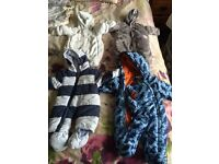 Nearly new Baby boys winter clothes snowsuits / sleeping bags