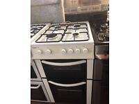 50CM WHITE BUSH GAS COOKER