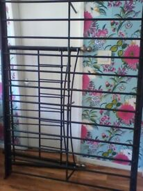 Black double bed frame ( optional memory foam mattress)