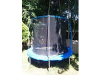 8 ft Trampoline with net.