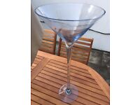 Wedding centrepiece - Martini glass 60cm