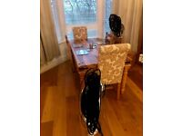 Dining table with 6 chairs ,