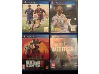 Bundle of 4 PS4 games