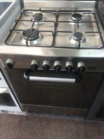 Stainless steel 60cm gas cooker grill & oven good condition with guarantee bargain