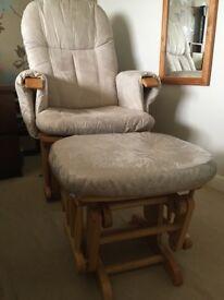 Tutti Bambini nursing chair & foot stool