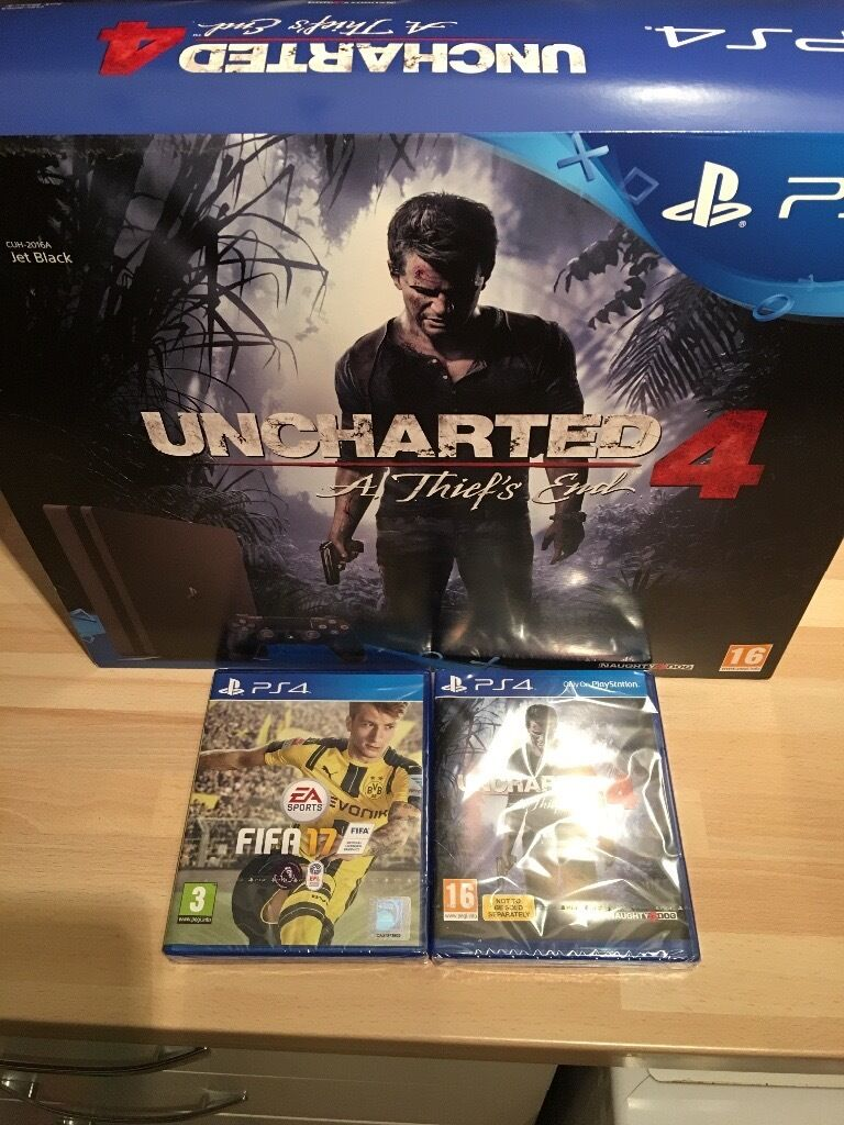 Slim PS4 brand new with FIFA 17 and Uncharted 4