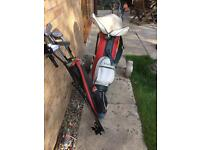 Golf Clubs plus bag and trolley.