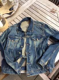 Designer Denim Jacket with studs - size 50( large)