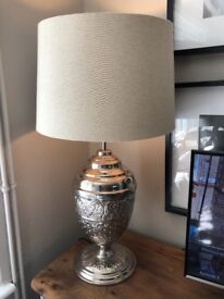 Large Chrome Urn Table Lamp