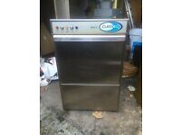 Classeq glass washer, less than 3 years old, 16 pint basket, detergent and rinse pump