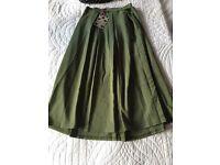 Boohoo Green Skirt