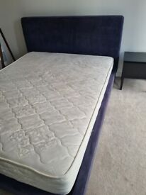 Stylish designer double bed and mattress (as new condition)!