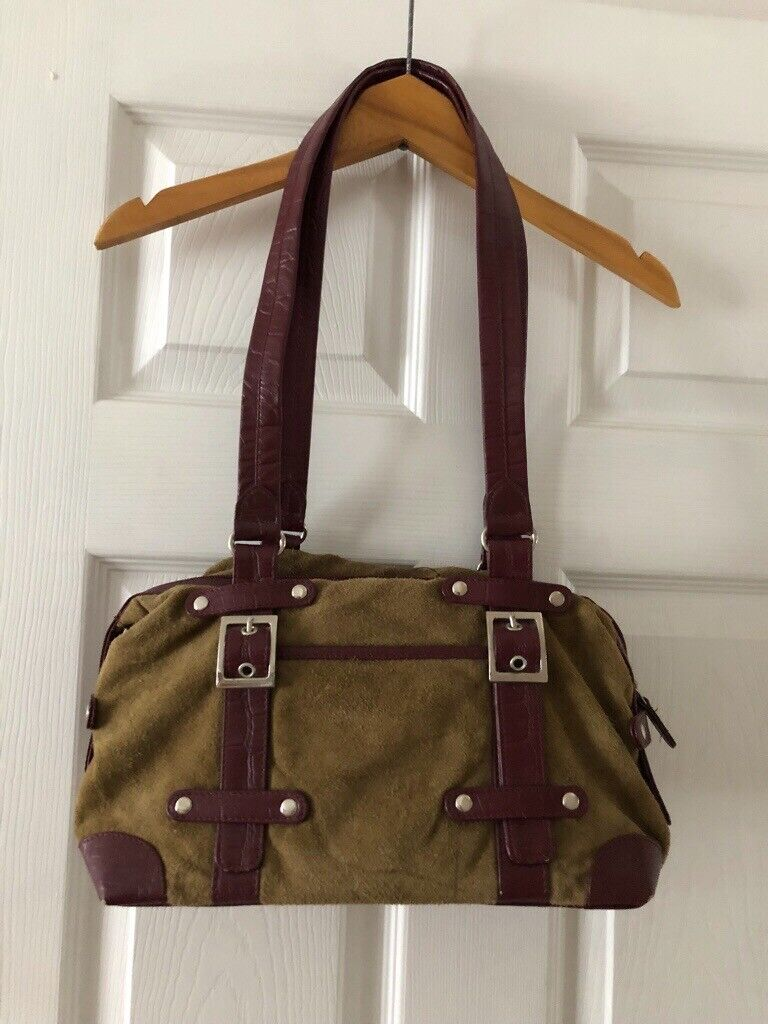 4af6275196 Tommy and Kate green and burgundy leather handbag   in Swansea ...
