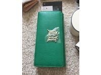 genuine brand new lady long love moschino wallet green color