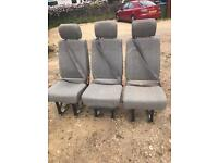 Vw t4 t5 triple rear seats