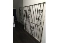 Iron gates 76in high by 114 width