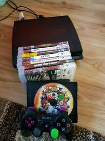 Ps3 320gb slim console with games