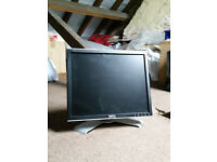 "Dell E178FP 17"" TFT LCD Monitor Computer Screen Display in Good Condition"
