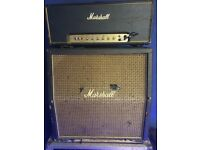 1972 marshall 50w and cab and 1972 (pics only) orange 0r120 with cab