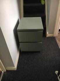 Ikea 2 drawer bedside cabinet