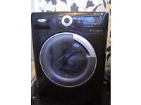 Black 9kg weight load washing machine 1400 spin speed