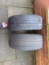 Nearly New 225/35 R19 Tyres