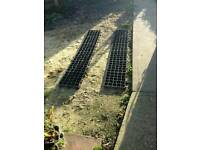 Caravan/trailer mats for them to sit on